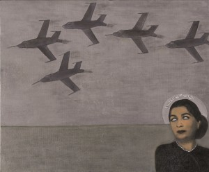 "Huda Lutfi's ""Democracy is Coming"". Photo credit: Barjeel Art Foundation."