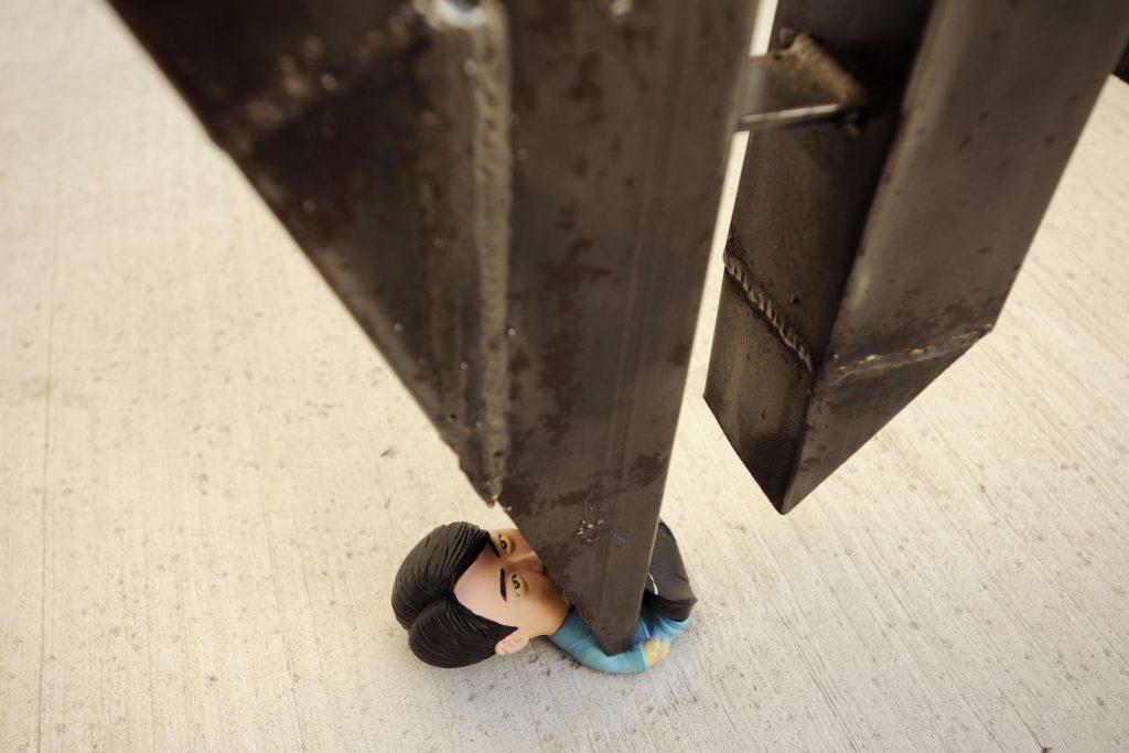 """Gerald Leow - The Decline of the Western Civilisation, 2010_sculpture_108"""" x 40""""x 3""""(detail)"""